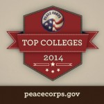Peace Corps 2014 Top College rankings logo