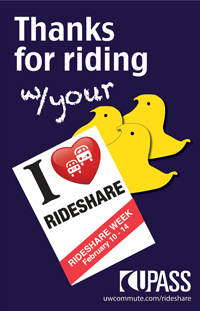 Thanks for riding say three little chick peeps