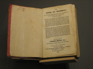 "The first European edition of ""The Book of Mormon,"" 1841."