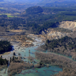 An aerial photo of the Oso, Wash., mudslide.