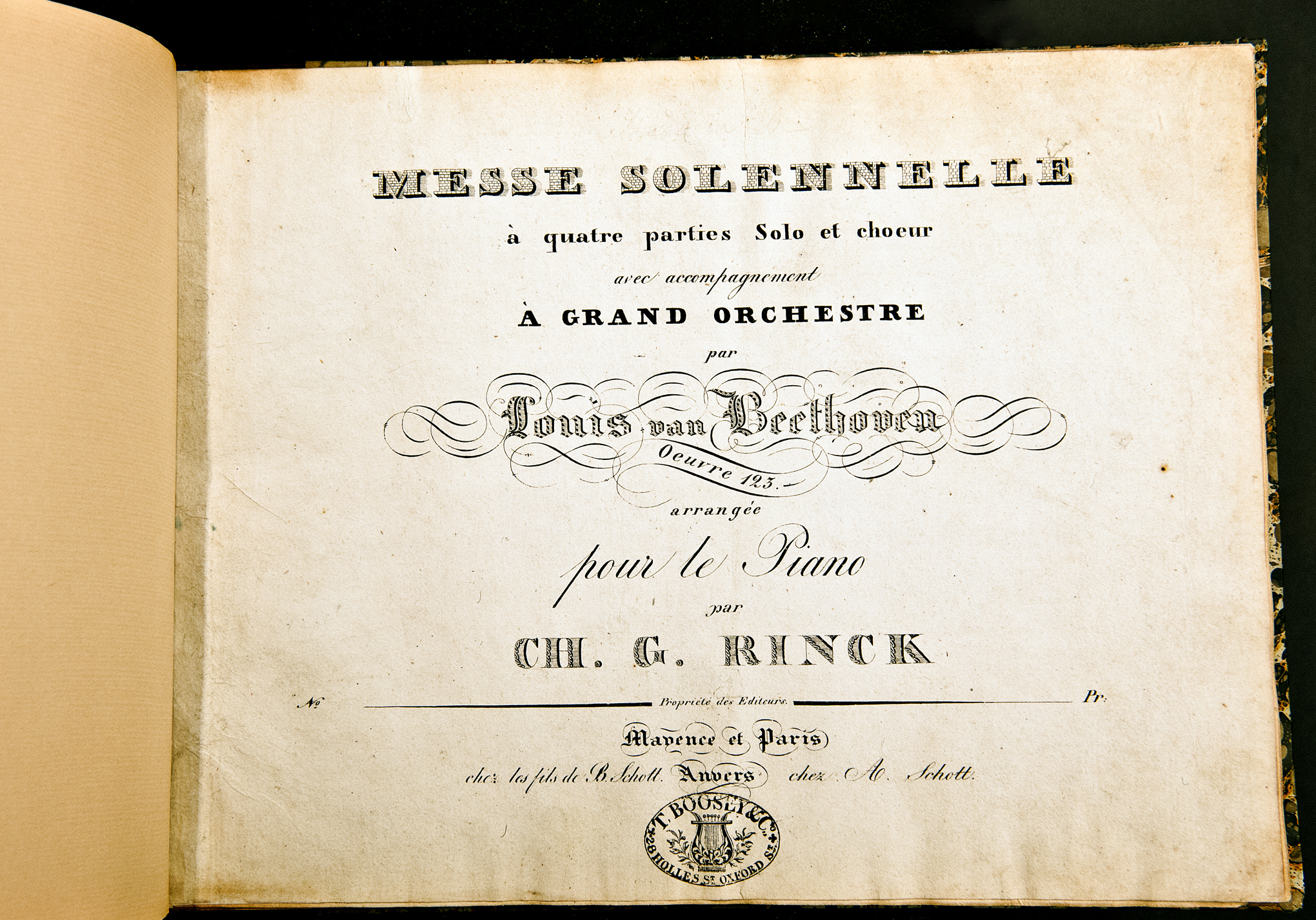 """Messe Solennelle,"" one of Ludwig van Beethoven's greatest works for chorus and orchestra. Here, the inimitable French claim him as ""Louis van Beethoven."""