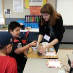 A UW student teaches environmental science to students in La Push in 2013.