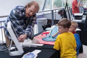 scientist and kids