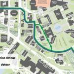 Map with detours market