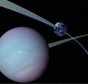Tilted orbits such as those shown might make some planets wobble like a top that's almost done spinning, an effect that could maintain liquid water on the surface, thus giving life a chance -- according to new research by UW astronomer Rory Barnes.