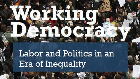"Logo for Harry Bridges Center for Labor Studies conference ""Working Democracy: Labot and Politics in an era of inequality."