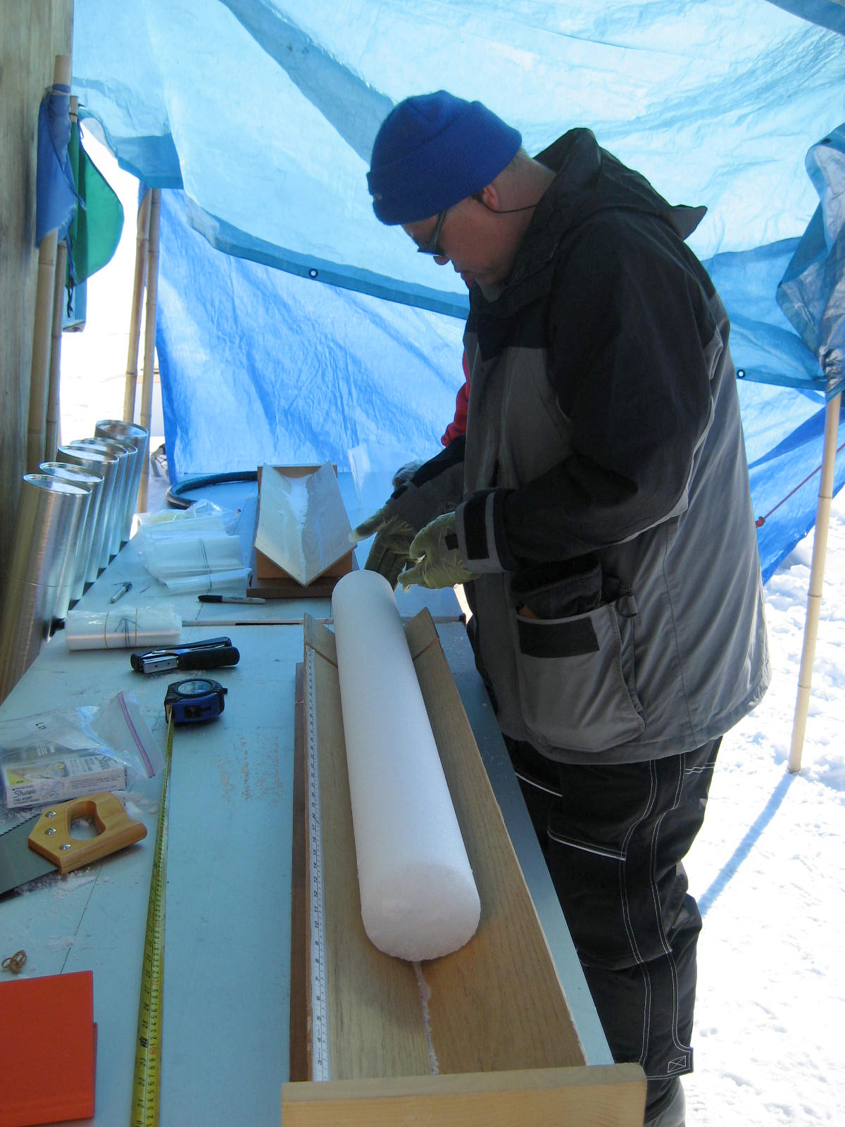 Greenland ice cores show industrial record of acid rain