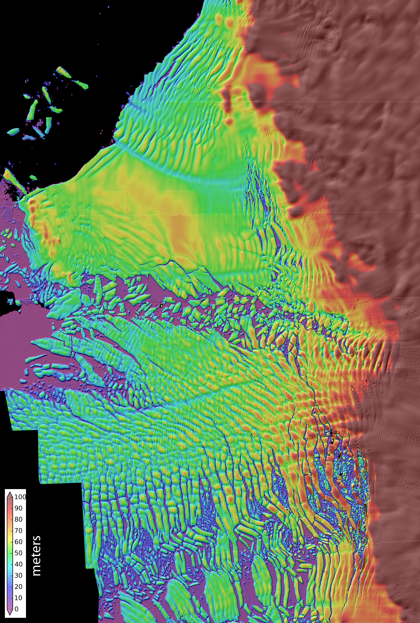 elevation map of glacier