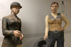 """Sisters,"" a sculpture by UW art student Julie Zappone."