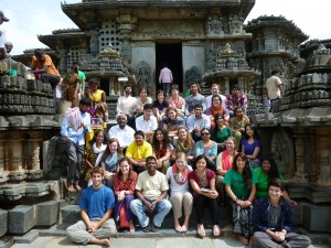 "The student authors of ""T.I.P.S. to Study Abroad,"" Bangalore, India, summer 2013."