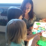 Miho Wright working with children