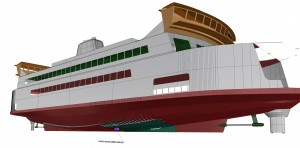 engineering sketch of ferry