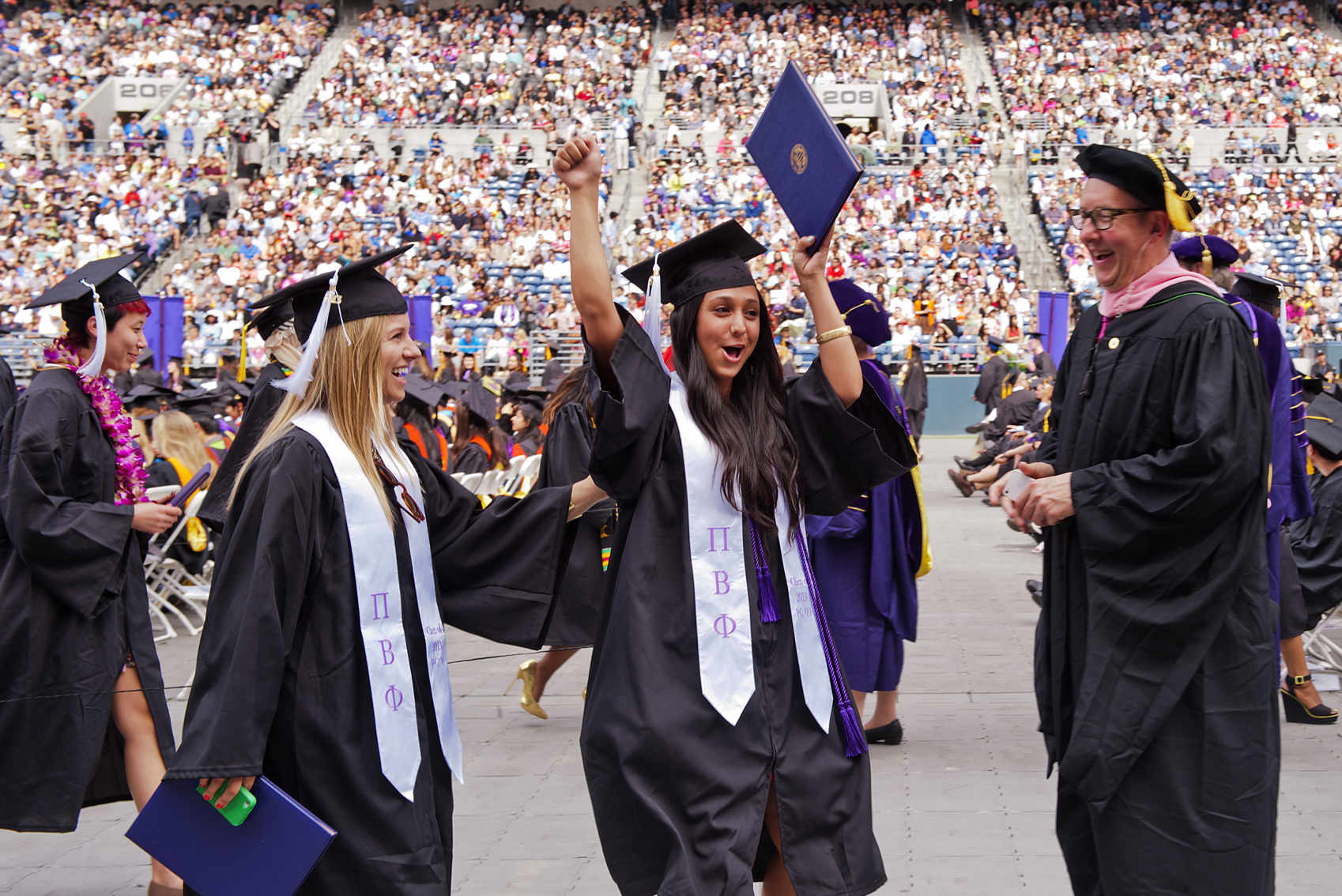 A scene from the 2013 UW commencement ceremony at CenturyLink Field in Seattle.