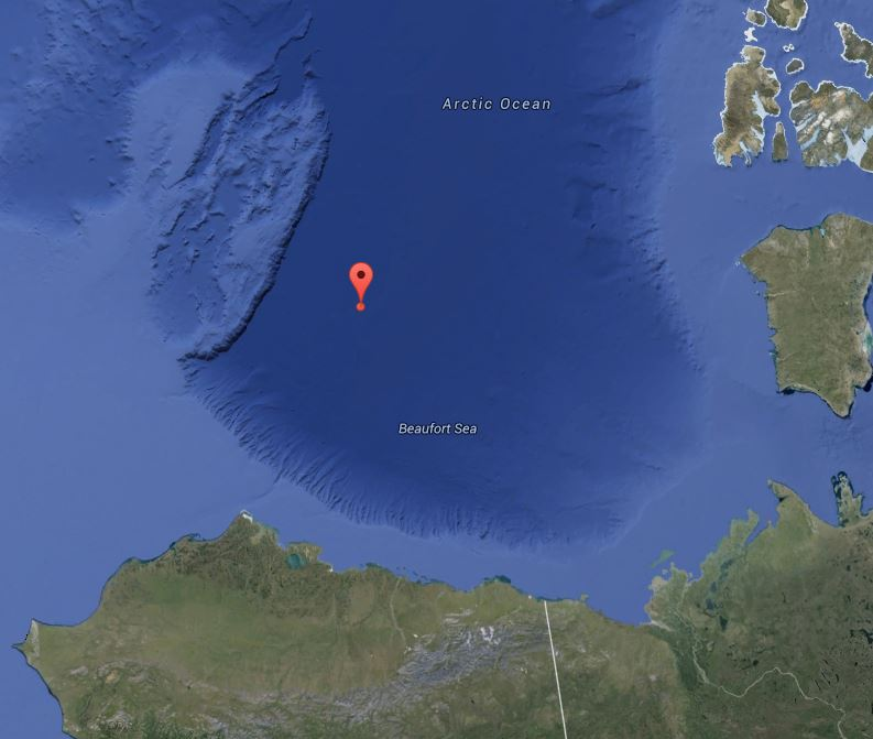 Google Map image of Beaufort Sea