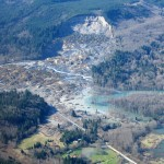 An aerial view of the slide site at Oso, Washington, from March 31, 2014.