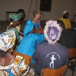 Litfin attends a meeting of village leaders in Colufifa, in Senegal and the Gambia. Colufifa is not an ecovillage exactly, Litfin notes — more a Senegal-based network of 350 West African villages seeing to become self-sufficient. Meeting topics ranged from plastic bags clogging local waterways to poultry vaccination programs.