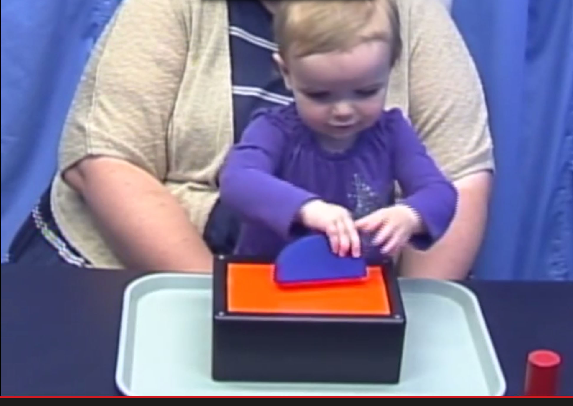 A toddler tries the probability test.