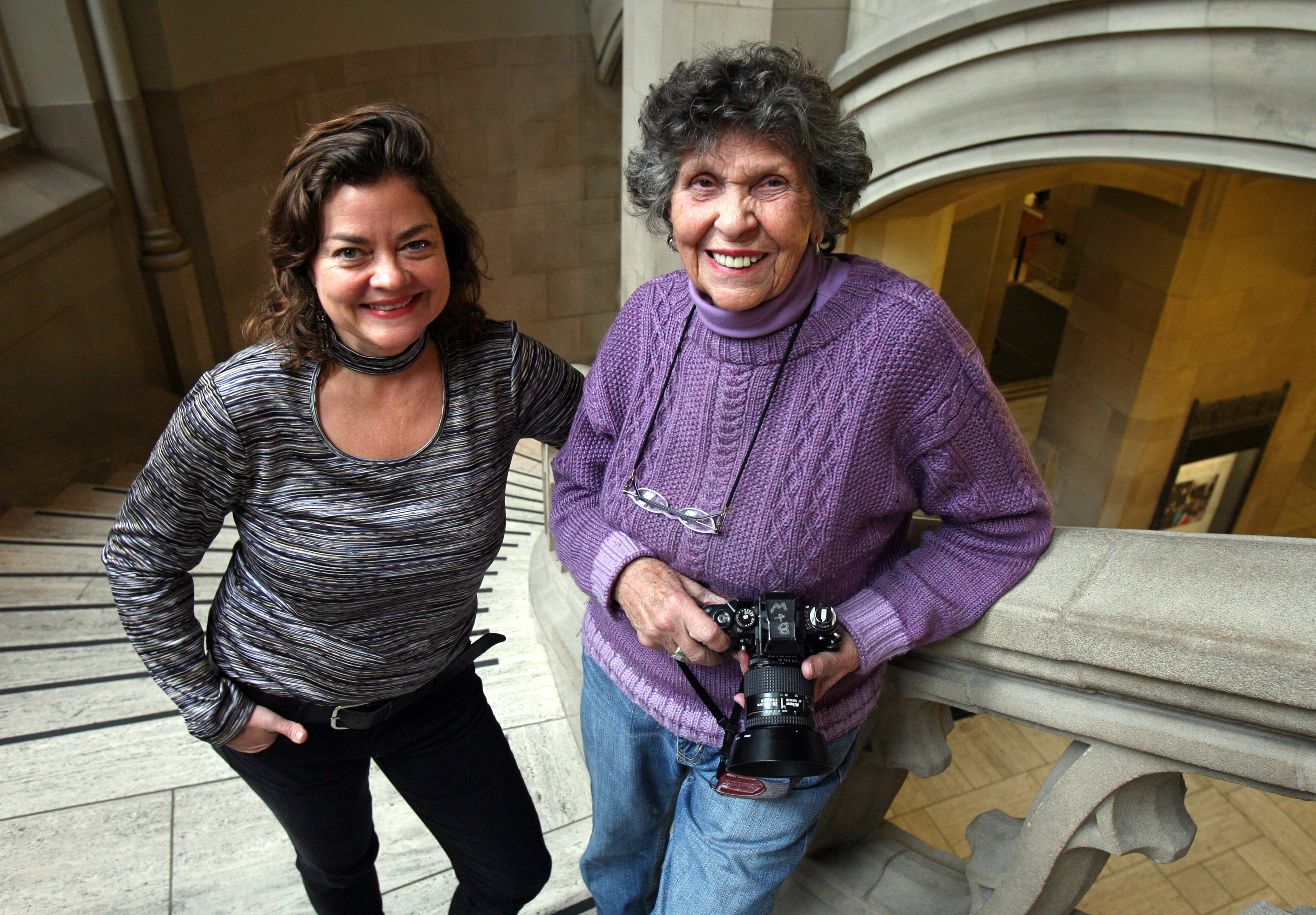 Frances McCue, left, and Mary Randlett. Photo by Greg Gilbert.