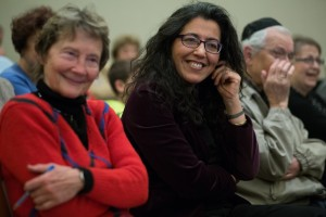 Suzanne Petersen, left, and Ana Gomez-Bravo, both UW associate professors of Spanish and Portuguese studies, attend the 2013 Ladino Day celebrations hosted by the Stroum Center for Jewish Studies in the UW Jackson School of International Studies.