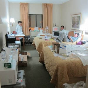 makeshift lab in motel