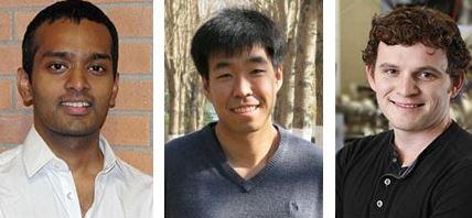 Left to right: Shyam Gollakota, Baosen Zhang, Derek Sutherland