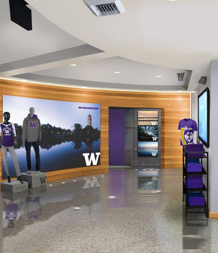 An interior rendering of the coming UW Spokane Center.