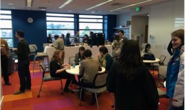 scene inside the data science studio.