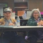 Elders Howard Luke, left, and Elizabeth Fleagle shared stories about their lives with an ungraduate health class.
