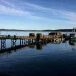 photo of dock in sunshine