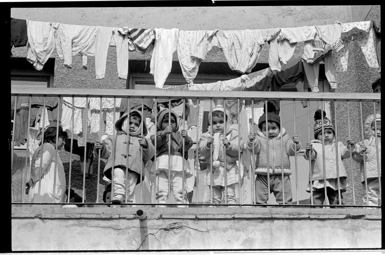 Children in an orphanage in Bucharest, Romania.