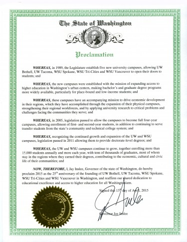 Gov. Jay Inslee's proclamation