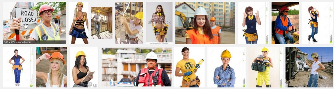 "Google image search results for ""female construction worker"""