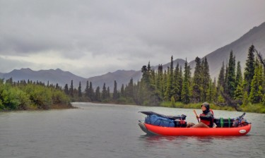 Sean Brennan gathering data in the Nushagak watershed.