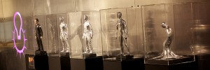 """The T1000 robot from """"The Terminator"""" movies grows from a pool of metallic liquid."""