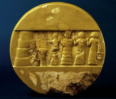 The disk of Enheduanna shows the high priestess making an offering to her god.