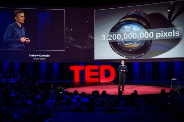 UW astronomy professor Andrew Connolly at TED2014 at the Vancouver, B.C., convention center.