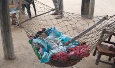A Toba/Qom child sleeps.