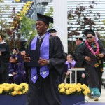 A scene from last year's commencement at the UW.