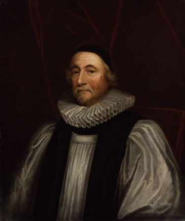 A portrait of James Ussher (1581 –  1656), author of the Annals of the World.