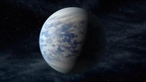 Artist's rendition of the planet Kepler-69c.