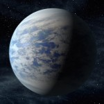 Artist's rendition of the planet Kepler-69c.