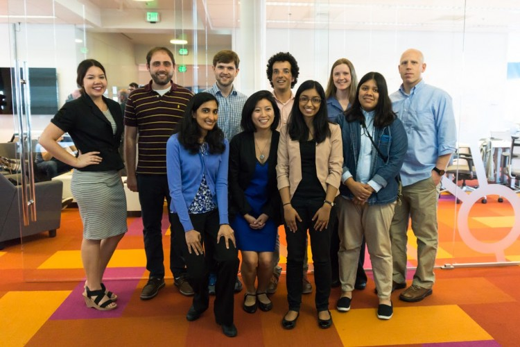 The Data Science for Social Good team that worked on the family homelessness project.