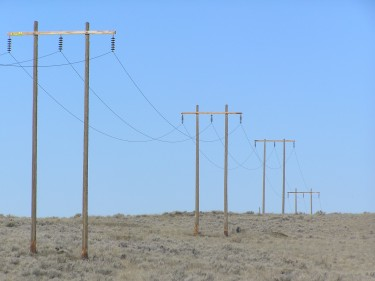 Power lines in Washington's Douglas County.
