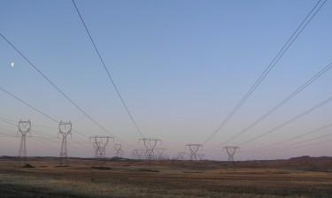 Transmission lines in Douglas County, Washington.