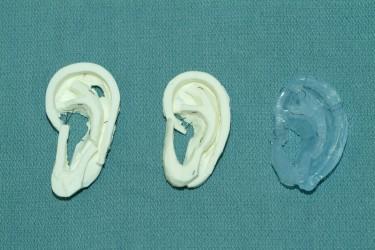 Carved ear models