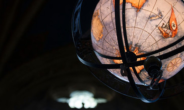 A globe in Suzzallo library