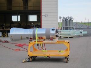 An experimental atmospheric rocket.