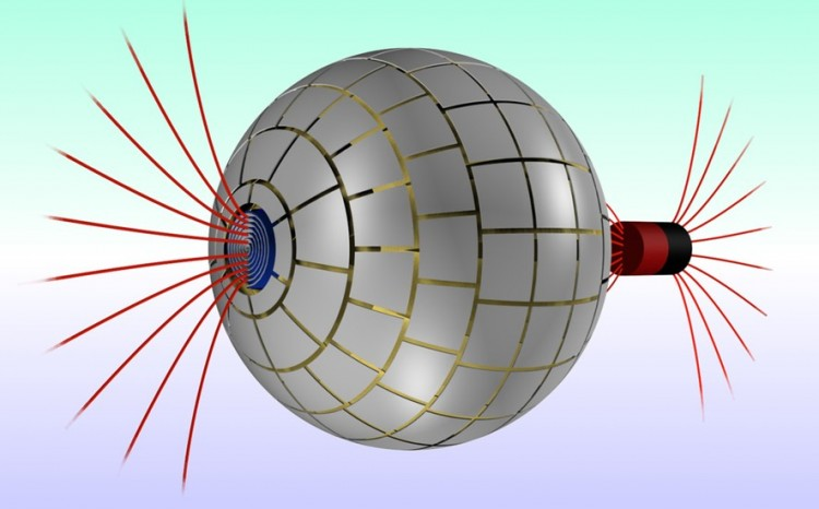 Cloaking sphere developed by Spanish researchers.