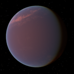 Artistic depiction of exoplanet GJ1214b.