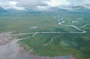 Alec River and Black Lake in Alaska